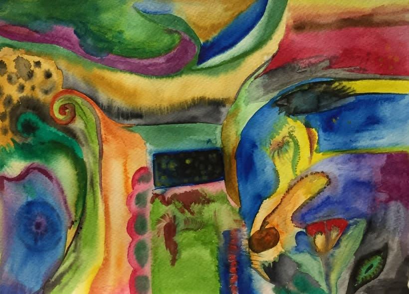 Acuarela abstracto -1