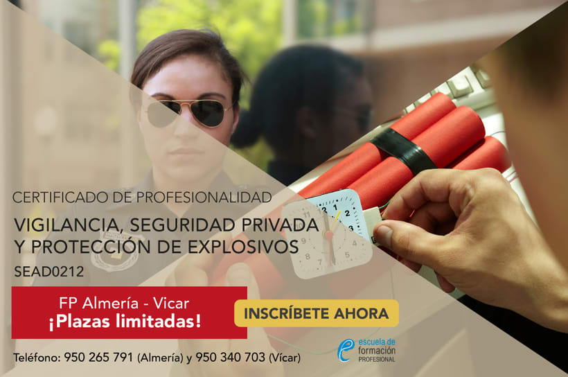 Professional Certificate of Security Warden and Warden of Explosives and people for Escuela de Formación Profesional -1