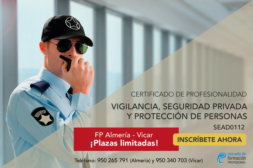Professional Certificate of Security Warden and Warden of Explosives and people for Escuela de Formación Profesional 0