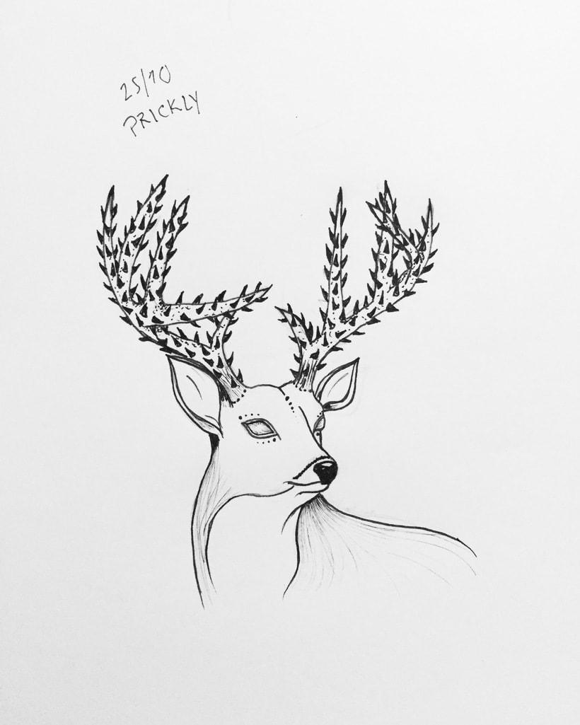 Dibujos a mano con tinta 0