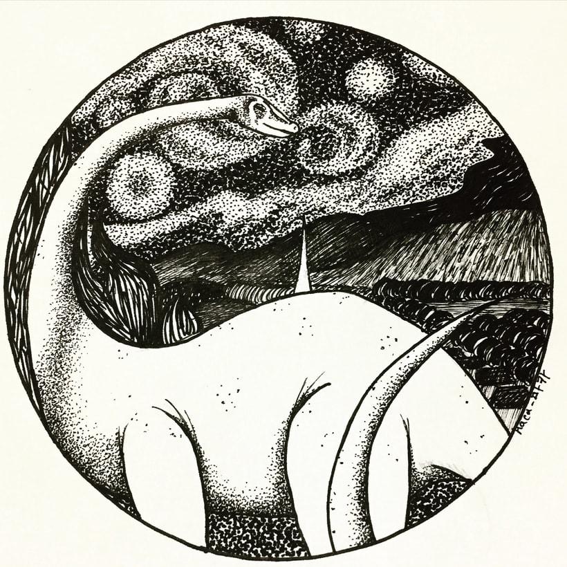 Dibujos a mano con tinta 3