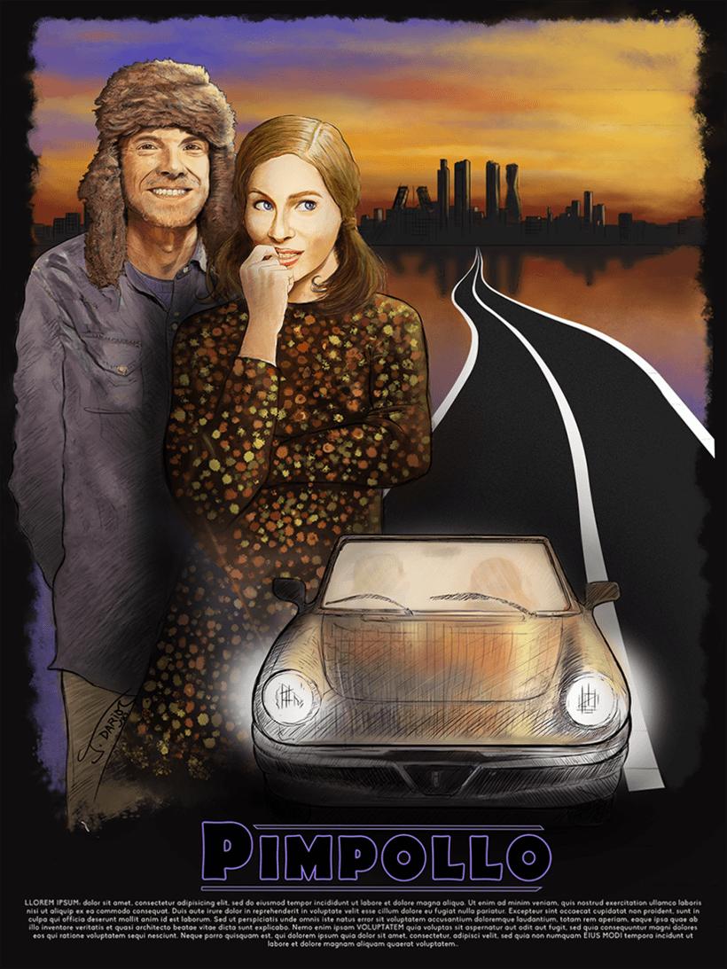 Proceso de trabajo para el cartel del cortometraje PIMPOLLO de Dieste·s Digital 5
