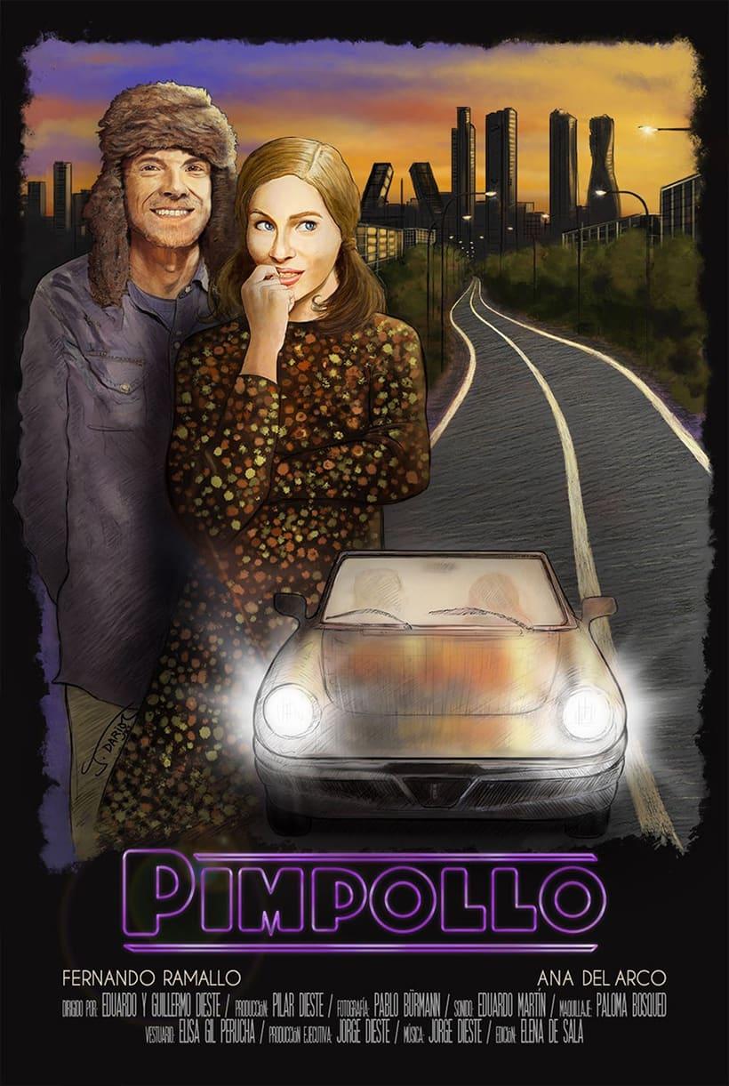 Proceso de trabajo para el cartel del cortometraje PIMPOLLO de Dieste·s Digital 6