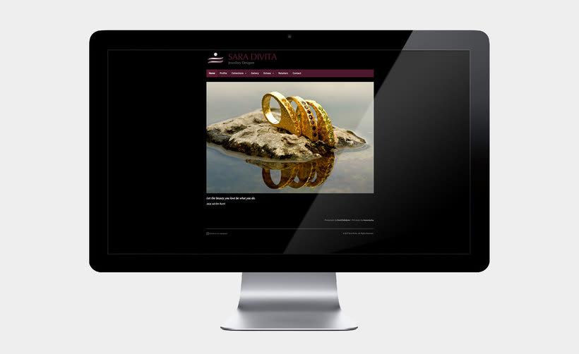 Web design for Sara Divita 2