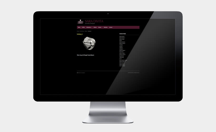 Web design for Sara Divita 5