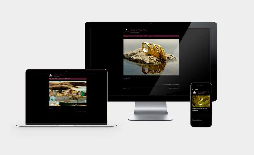 Web design for Sara Divita 1