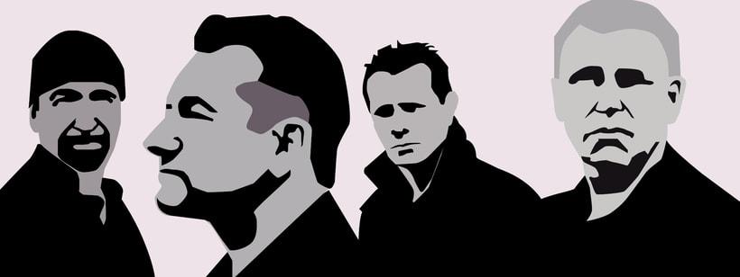 U2 Ilustración por planos 0
