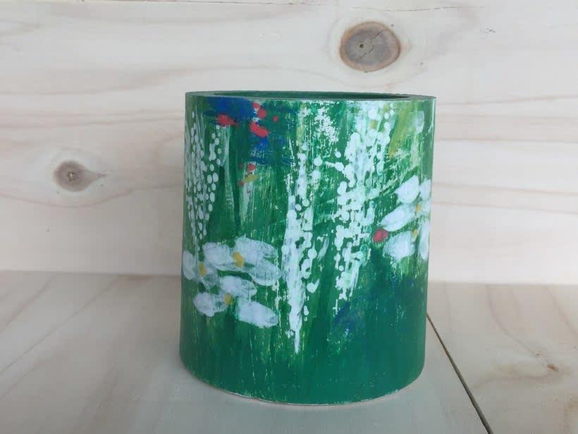 Elementos decorativos con tubo de cartón industrial -1
