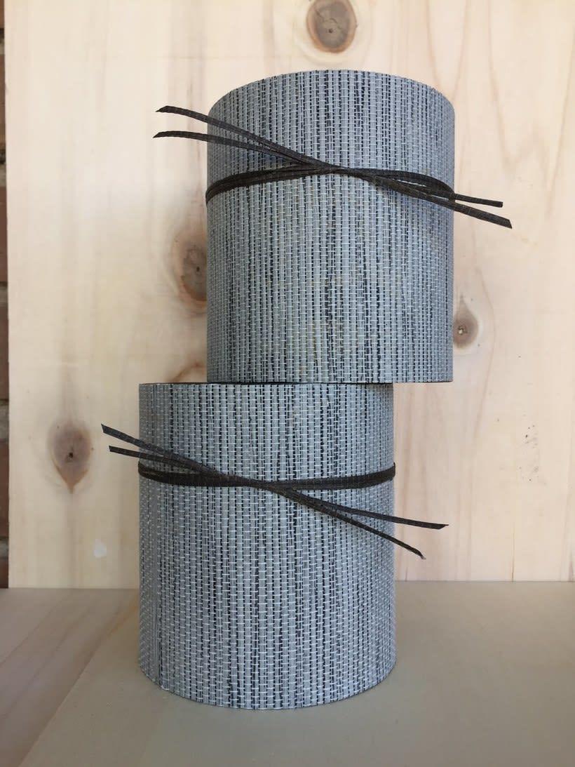 Elementos decorativos con tubos de cartón industrial 4