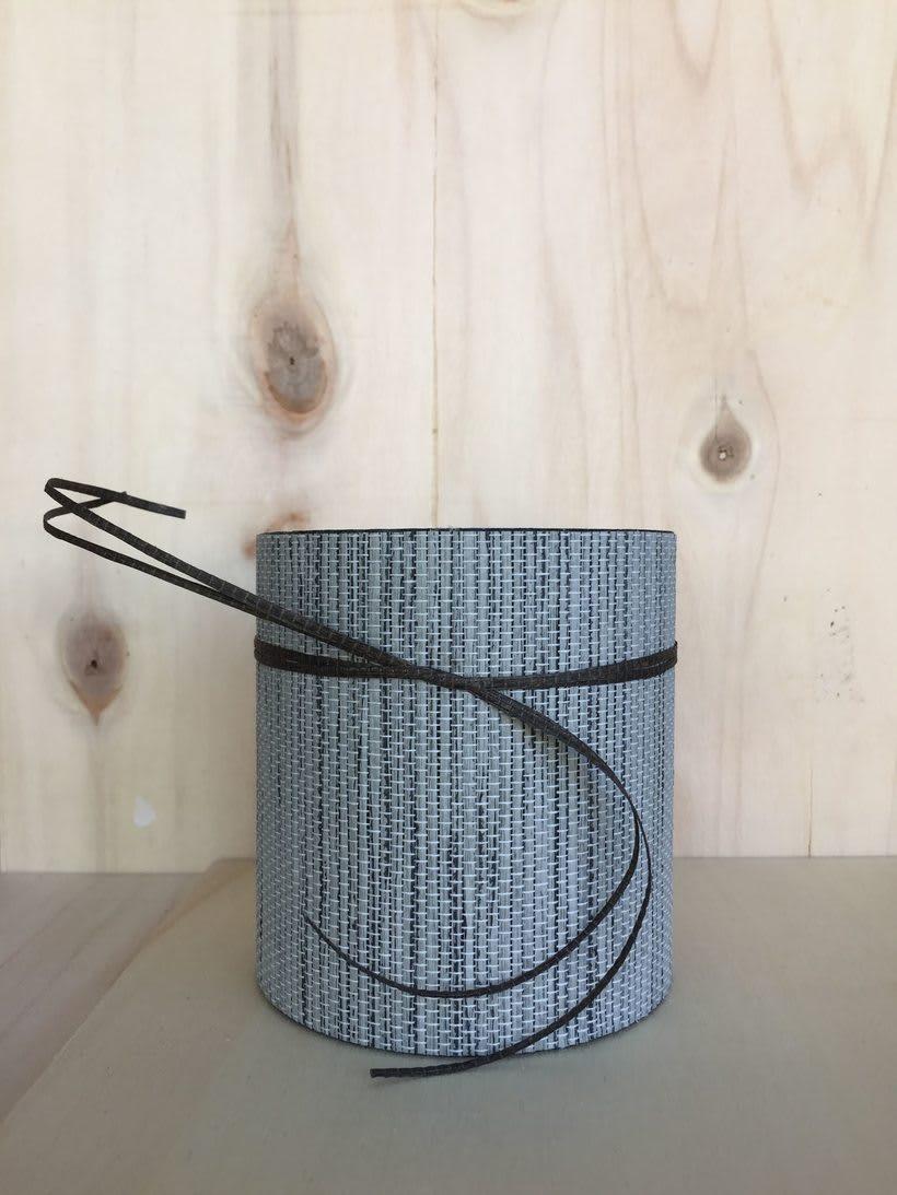 Elementos decorativos con tubos de cartón industrial 5