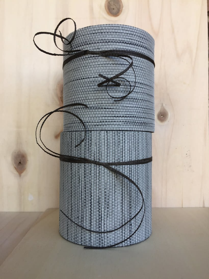 Elementos decorativos con tubos de cartón industrial 6
