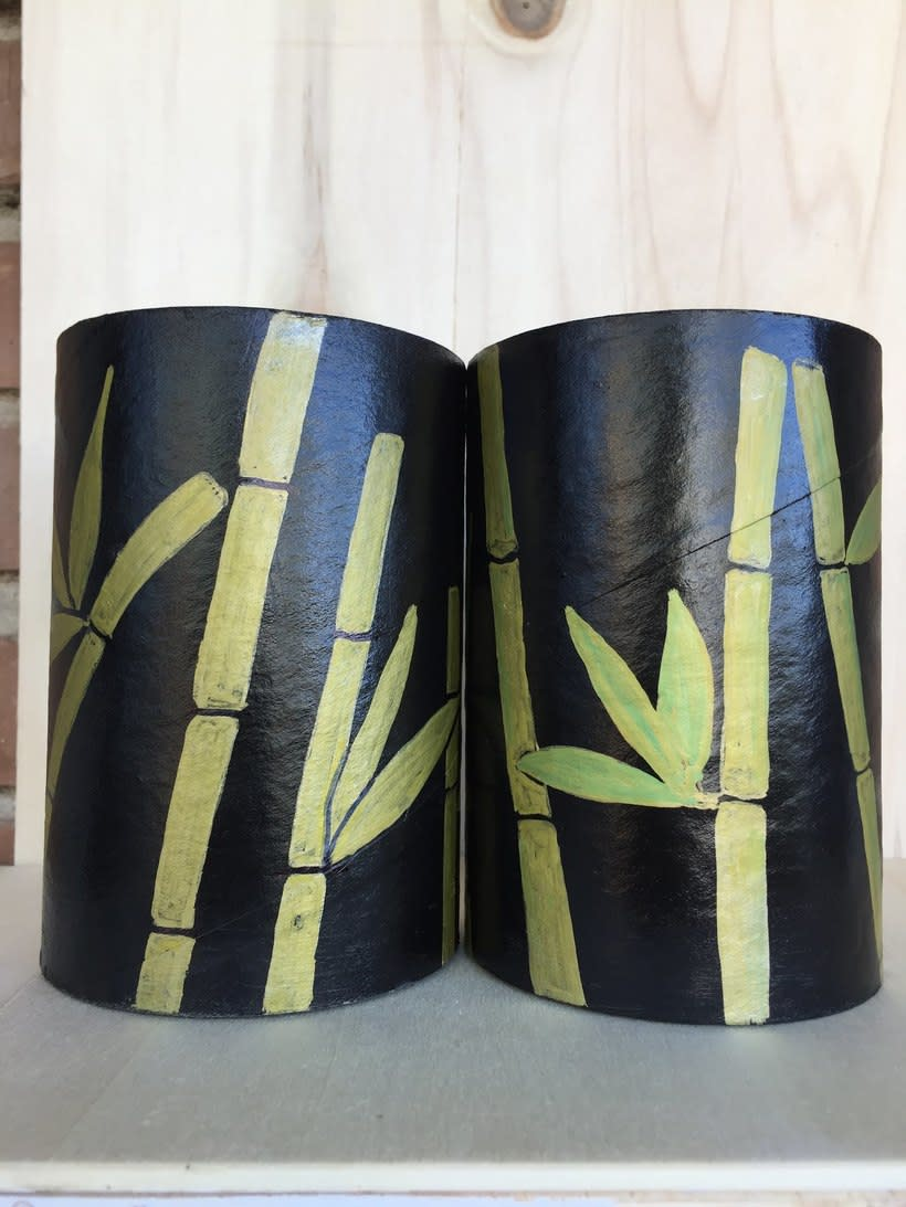 Elementos decorativos con tubos de cartón industrial -1