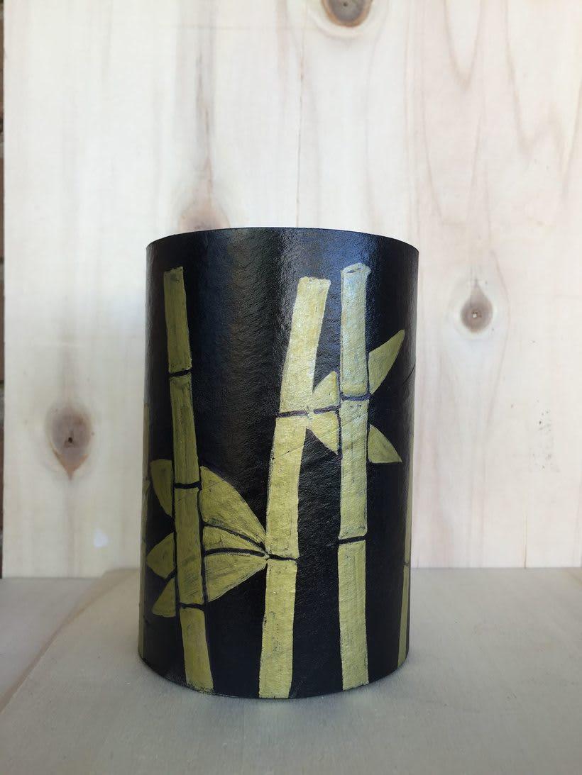 Elementos decorativos con tubos de cartón industrial 1