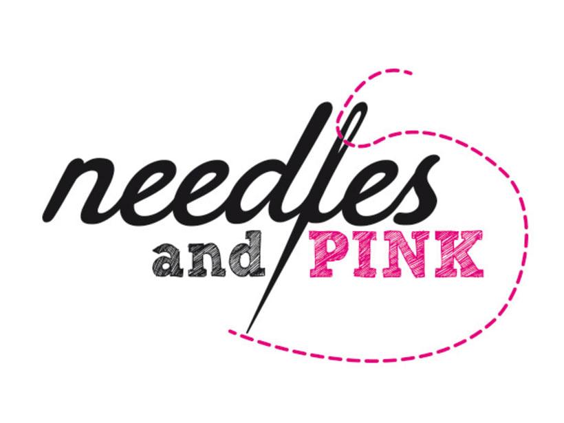 Needles and Pink: logotípo para una marca de moda 0