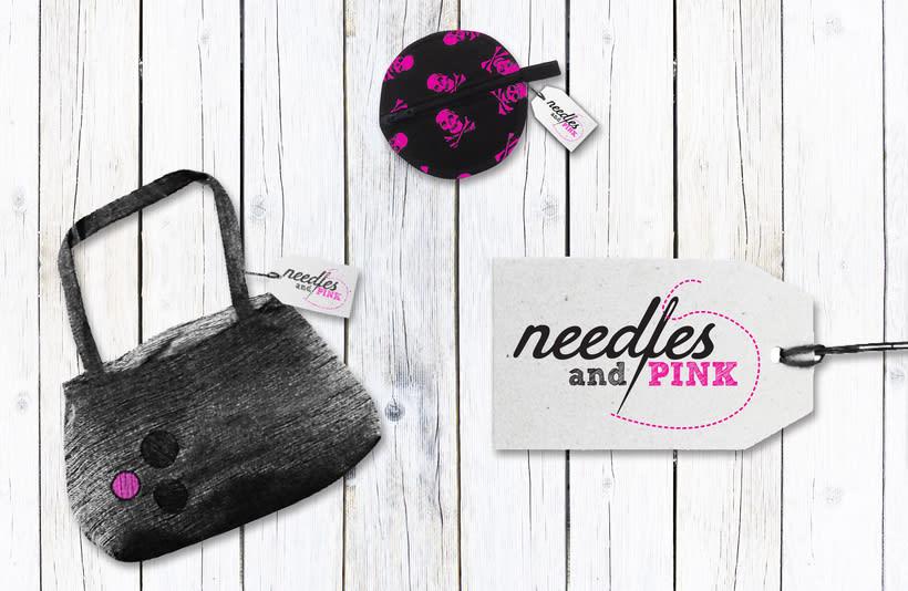 Needles and Pink: logotípo para una marca de moda 1