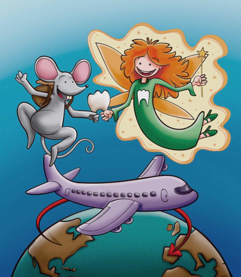 Ilustración para portada de cuento infantil 0