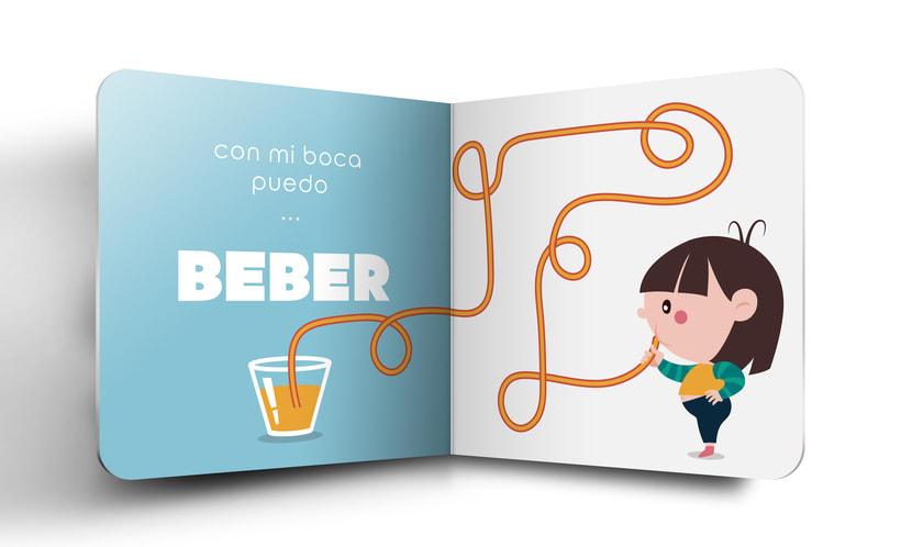 """Mi Proyecto del curso:  Ilustración y diseño de libros infantiles - """"MIRA, TENGO UNA BOCA"""" 2"""