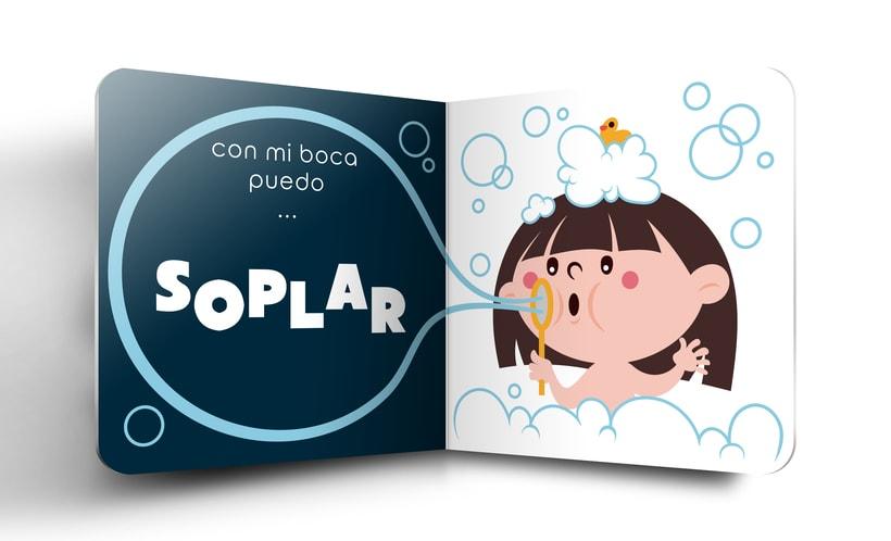 """Mi Proyecto del curso:  Ilustración y diseño de libros infantiles - """"MIRA, TENGO UNA BOCA"""" 3"""