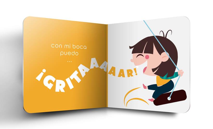"""Mi Proyecto del curso:  Ilustración y diseño de libros infantiles - """"MIRA, TENGO UNA BOCA"""" 4"""