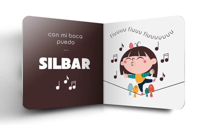 """Mi Proyecto del curso:  Ilustración y diseño de libros infantiles - """"MIRA, TENGO UNA BOCA"""" 5"""