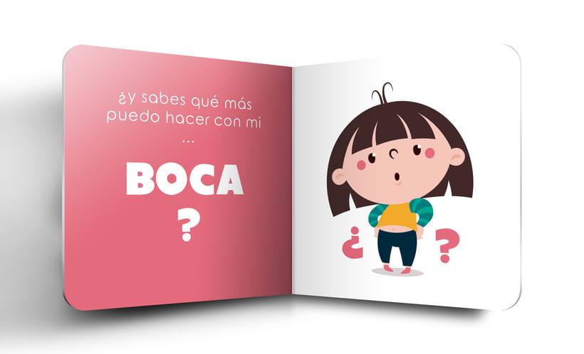 """Mi Proyecto del curso:  Ilustración y diseño de libros infantiles - """"MIRA, TENGO UNA BOCA"""" 8"""