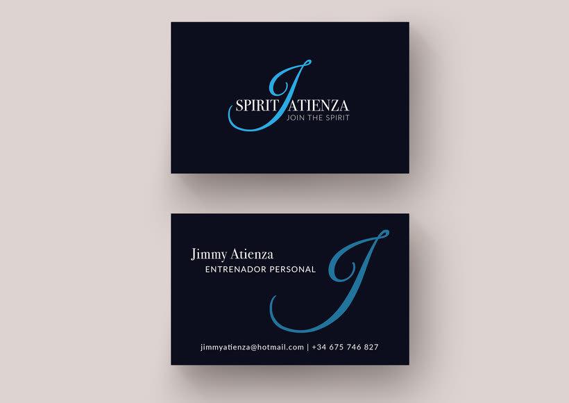Diseño de logotipo y tarjeta de visita para entrenador personal -1