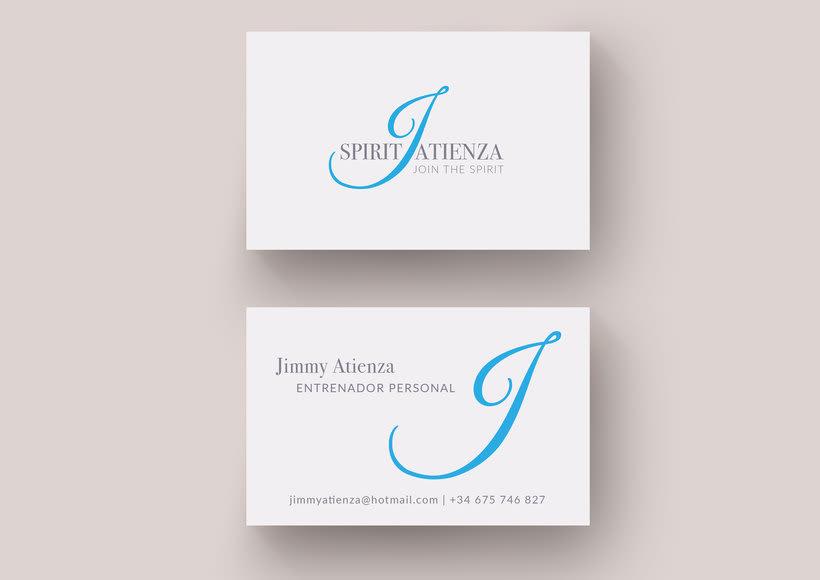 Diseño de logotipo y tarjeta de visita para entrenador personal 0