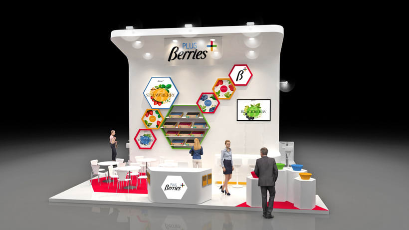 Diseño de stand PLUS BERRIES - Fruit Attraction 2018 - Ifema - Madrid 0