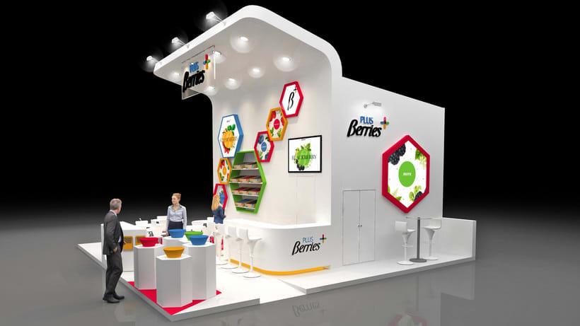 Diseño de stand PLUS BERRIES - Fruit Attraction 2018 - Ifema - Madrid 1