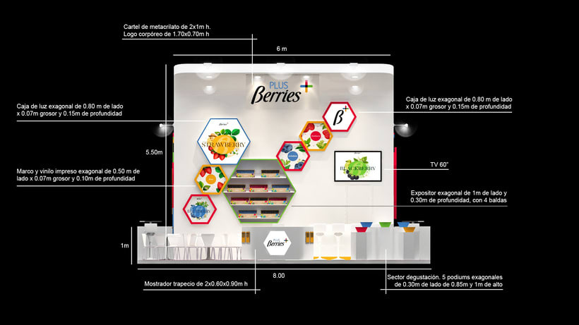 Diseño de stand PLUS BERRIES - Fruit Attraction 2018 - Ifema - Madrid 4