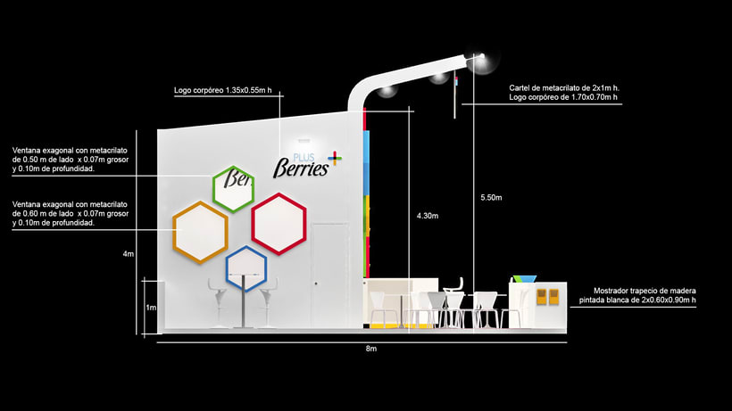 Diseño de stand PLUS BERRIES - Fruit Attraction 2018 - Ifema - Madrid 5