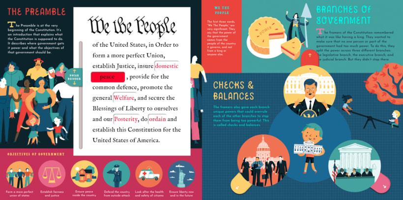 "Albert Pinilla illustrator ""The Interactive Constitution"" by Bushel & Peck Books 1"