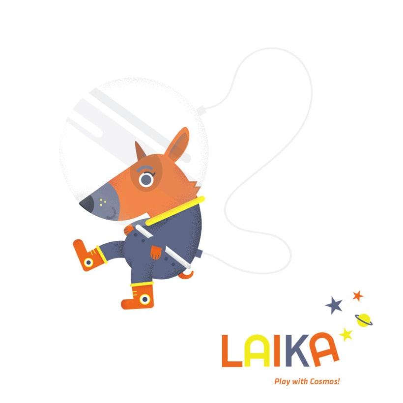 Laika. Play with Cosmos!- Ilustración aplicada a producto -1