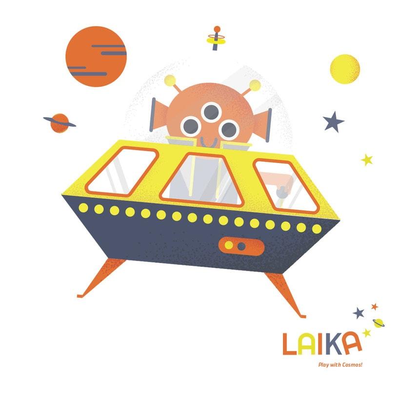 Laika. Play with Cosmos!- Ilustración aplicada a producto 0