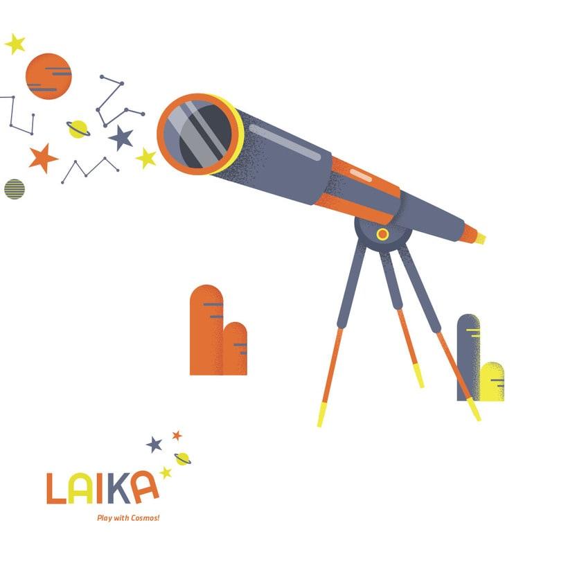 Laika. Play with Cosmos!- Ilustración aplicada a producto 1