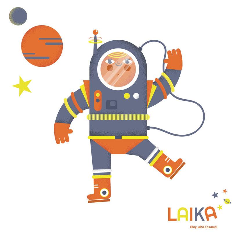 Laika. Play with Cosmos!- Ilustración aplicada a producto 3