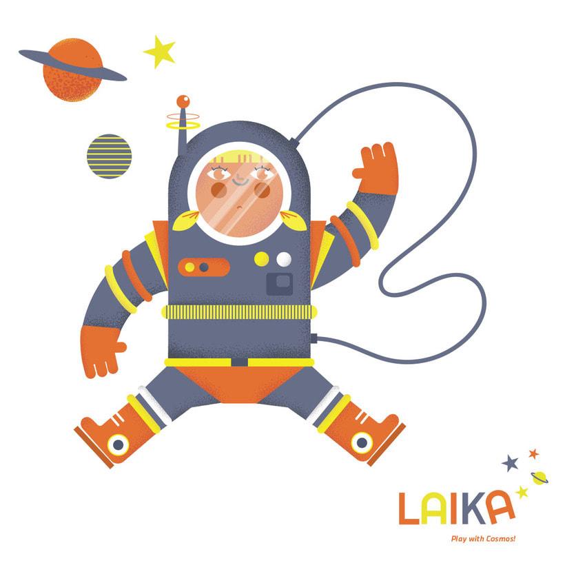 Laika. Play with Cosmos!- Ilustración aplicada a producto 4