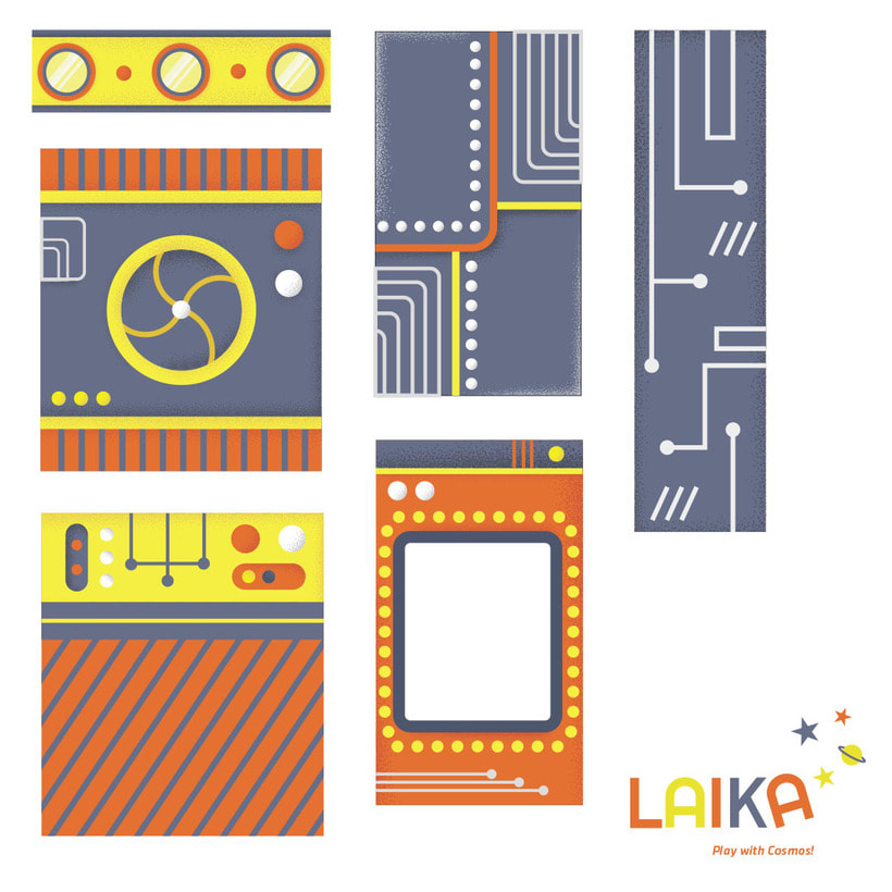 Laika. Play with Cosmos!- Ilustración aplicada a producto 5