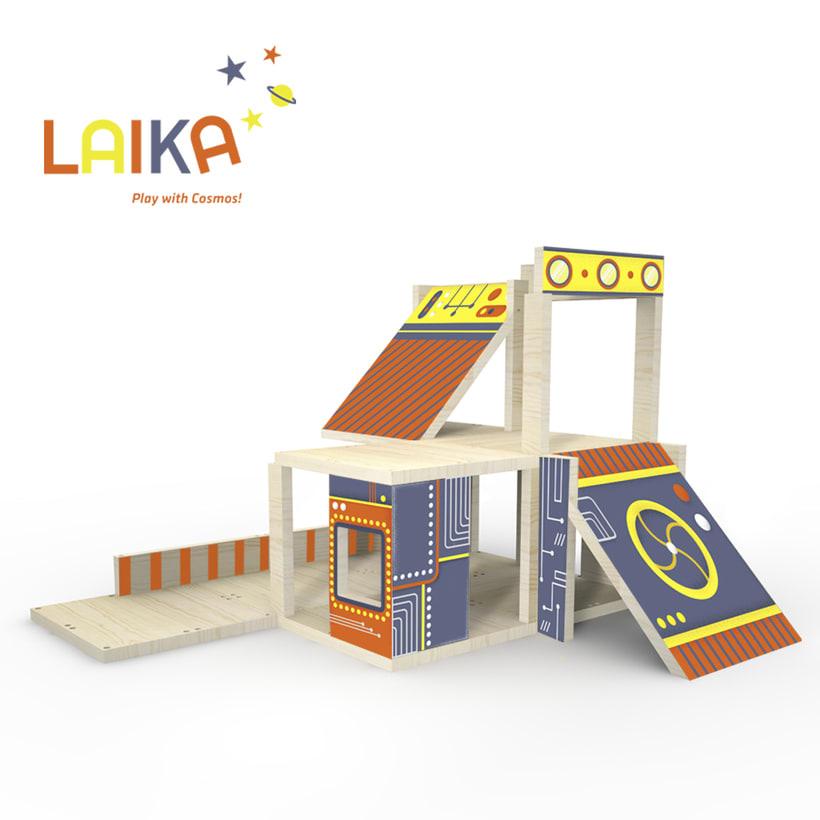 Laika. Play with Cosmos!- Ilustración aplicada a producto 6