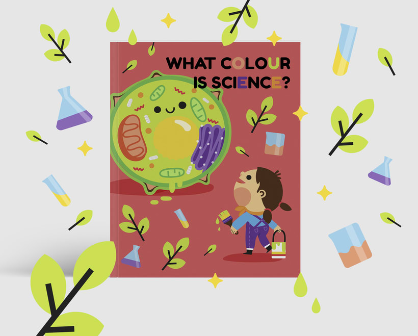 What colour is Science?. Libro infantil para colorear 1