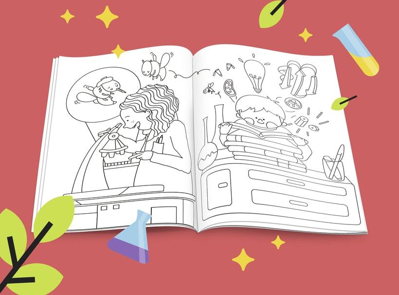 What colour is Science?. Libro infantil para colorear 4