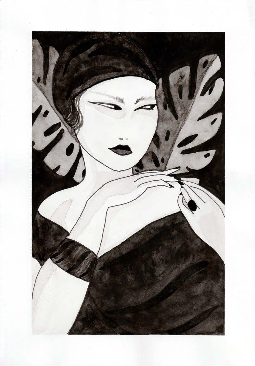 Mi Proyecto del curso: Introducción a la ilustración con tinta china 4