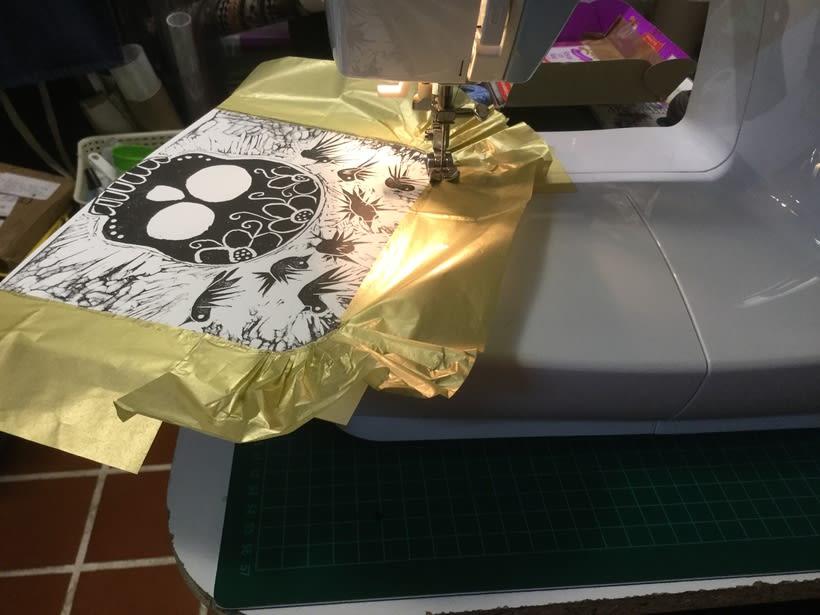 Mi Proyecto del curso: Técnicas de bordado experimental sobre papel -1