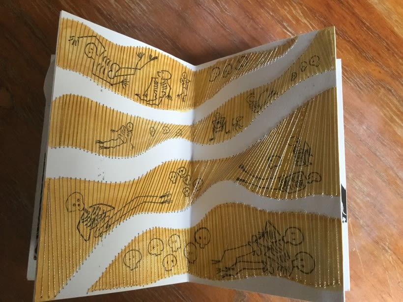 Mi Proyecto del curso: Técnicas de bordado experimental sobre papel 4