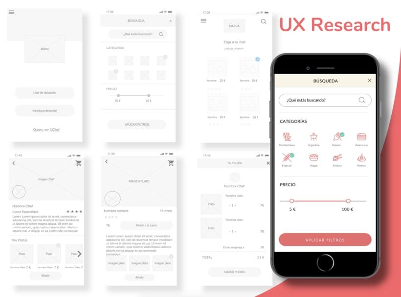 Desarrollo UX - Plataforma UChef 2