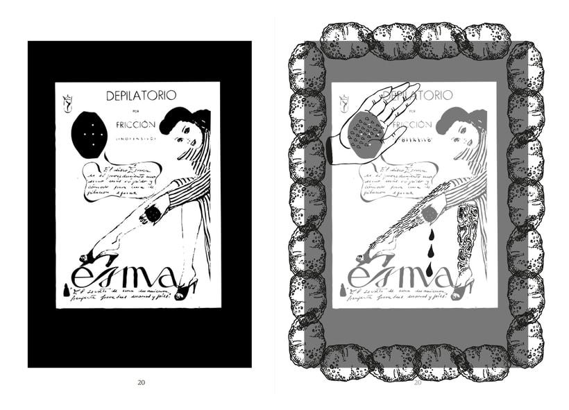 Ilustración e intervención irónica sobre anuncios de época 13