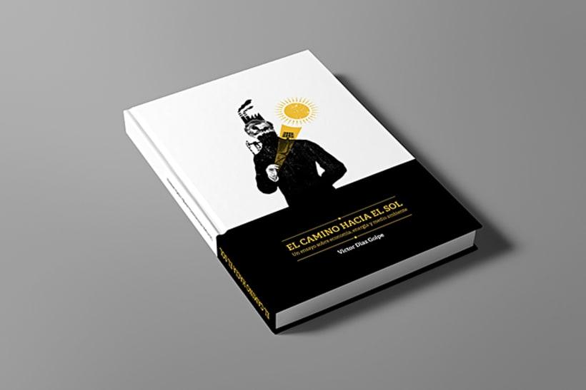 """Ilustración y diseño de portada para el Libro """"El camino hacia el sol"""" -1"""