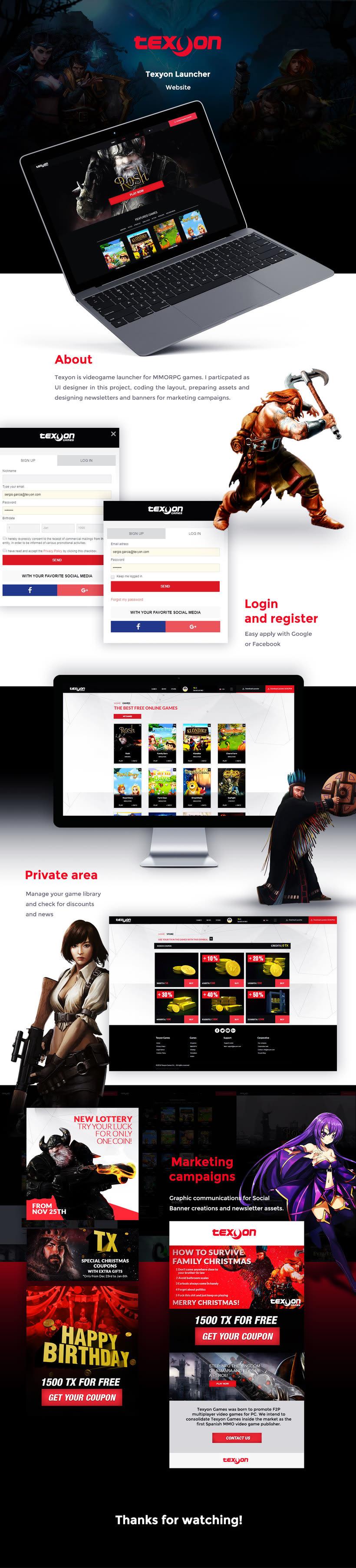 Texyon Games Launcher Website 0