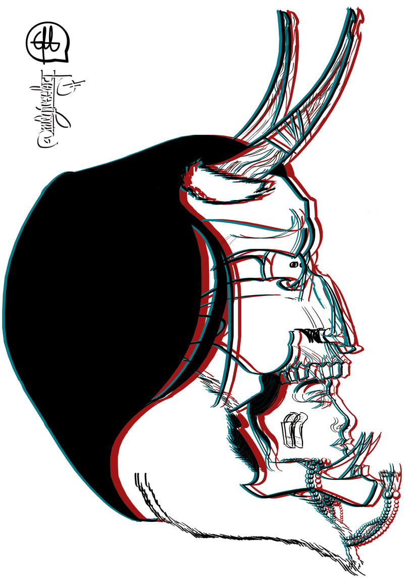 """Life's a glitch"" serie de ilustraciones digitales 1"
