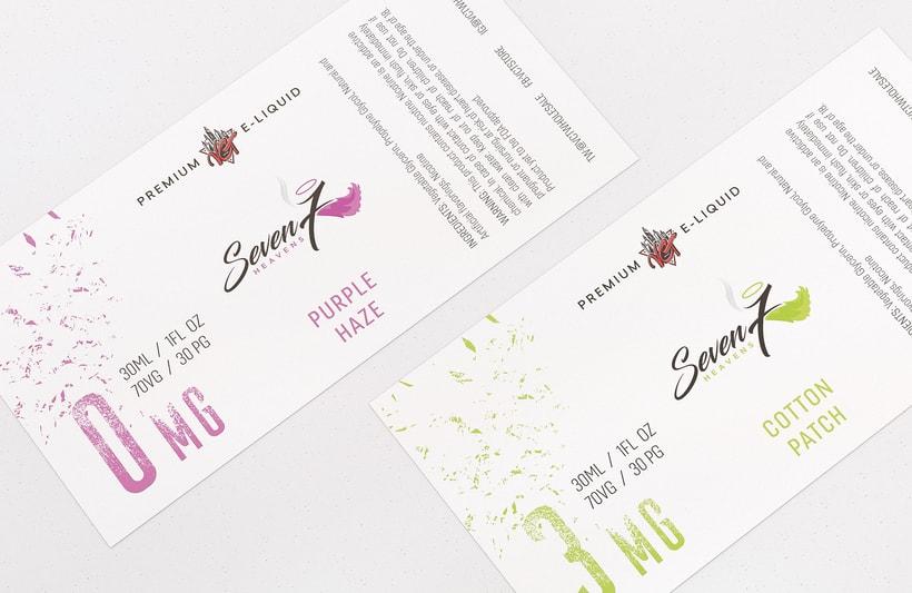 Diseño de Etiquetas - Liquidos Premium para cigarrillos 5